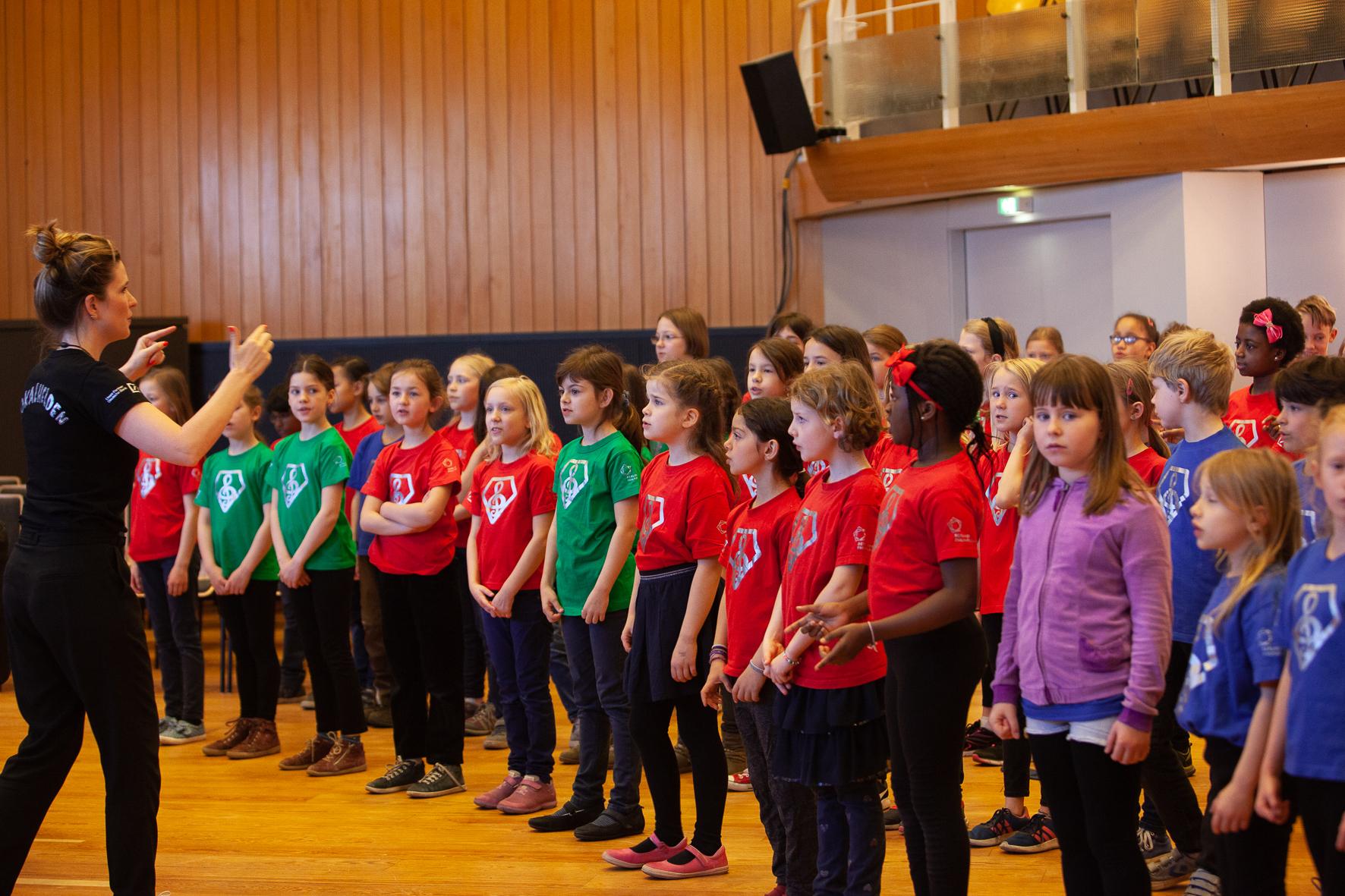 Chorprobe mit Berliner Philharmoniker Vokalhelden